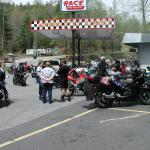 Deals Gap - Great place to grab a bite to eat and chat with those that have already run the dragon or are about to.  Fuel isn't
