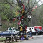 The parts tree.  A very sobering reminder that the dragon is a cruel beast.  Those that have crashed or even died have parts of
