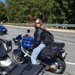 Cristine on her Sv in Travel Mode