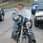 Mom in her new bike, still a bit in shock that she has it